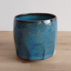 Tasse à facettes, bleu
