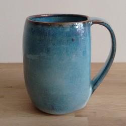 Tall mug, blue